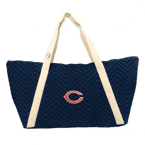Chicago Bears Chevron Stitch Weekender Bag