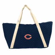 Chicago Bears Chevron Stitch Weekender Bag