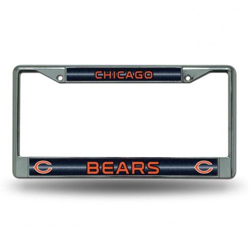 Chicago Bears Chrome Glitter License Plate Frame