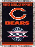 Chicago Bears Commemorative Throw Blanket