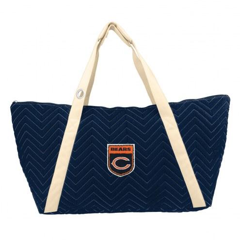 Chicago Bears Crest Chevron Weekender Bag