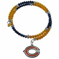 Chicago Bears Crystal Memory Wire Bracelet