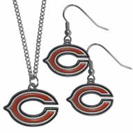 Chicago Bears Dangle Earrings & Chain Necklace Set