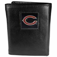 Chicago Bears Deluxe Leather Tri-fold Wallet in Gift Box