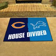 Chicago Bears/Detroit Lions House Divided Mat