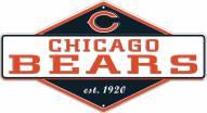 Chicago Bears Diamond Panel Metal Sign