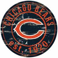 Chicago Bears Distressed Round Sign