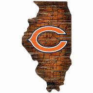 Chicago Bears Distressed State with Logo Sign