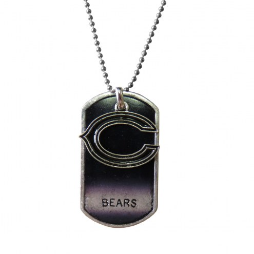 Chicago Bears Dog Tag Charm Necklace