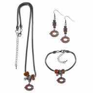 Chicago Bears Euro Bead Jewelry 3 Piece Set