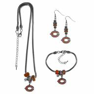 Chicago Bears Euro Bead Jewelry 3 Piece Set