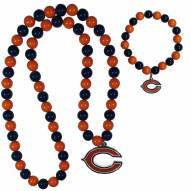 Chicago Bears Fan Bead Necklace & Bracelet Set