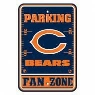 Chicago Bears Fan Zone Parking Sign