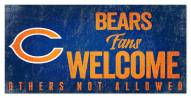 Chicago Bears Fans Welcome Sign
