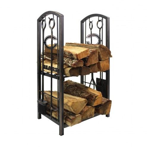 Chicago Bears Fireplace Wood Holder & Tool Set