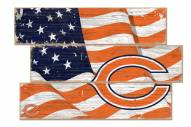 Chicago Bears Flag 3 Plank Sign