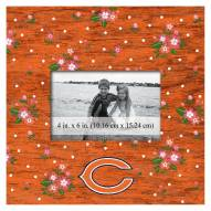 """Chicago Bears Floral 10"""" x 10"""" Picture Frame"""