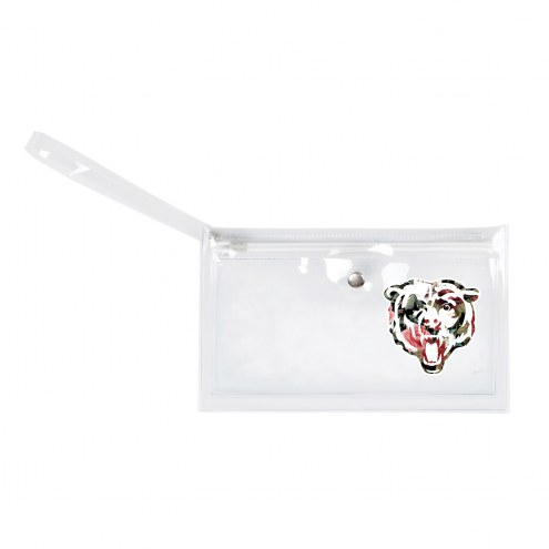 Chicago Bears Floral Clear Ticket Wristlet