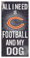 Chicago Bears Football & My Dog Sign