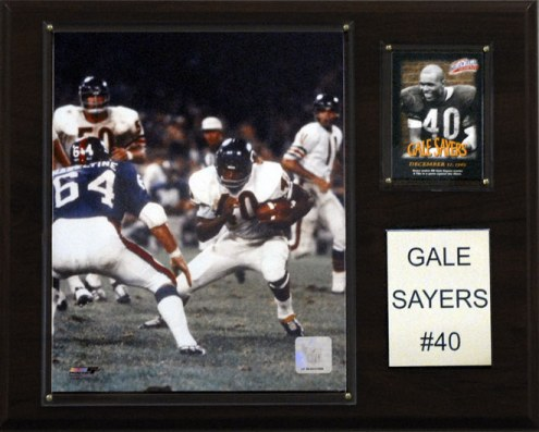 """Chicago Bears Gale Sayers 12 x 15"""" Player Plaque"""