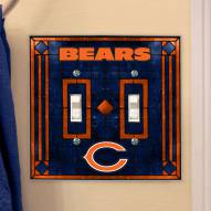 Chicago Bears Glass Double Switch Plate Cover