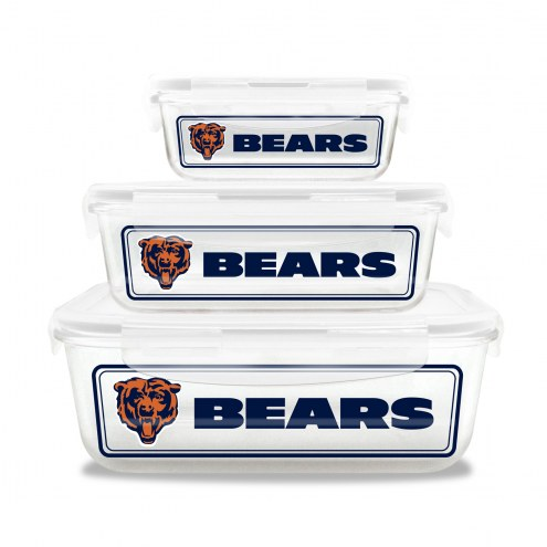 Chicago Bears Glass Food Container Set