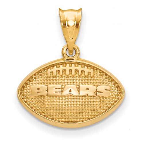 Chicago Bears Gold Plated Football Pendant