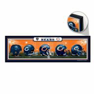 Chicago Bears Helmets Wood Sign