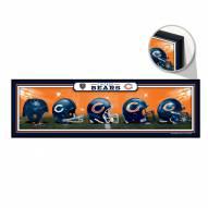 Chicago Bears Helmets Wood Sign