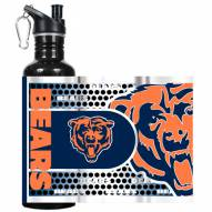Chicago Bears Hi-Def Black Stainless Steel Water Bottle