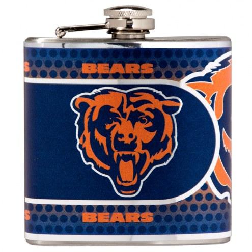 Chicago Bears Hi-Def Stainless Steel Flask