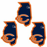 Chicago Bears Home State Decal - 3 Pack