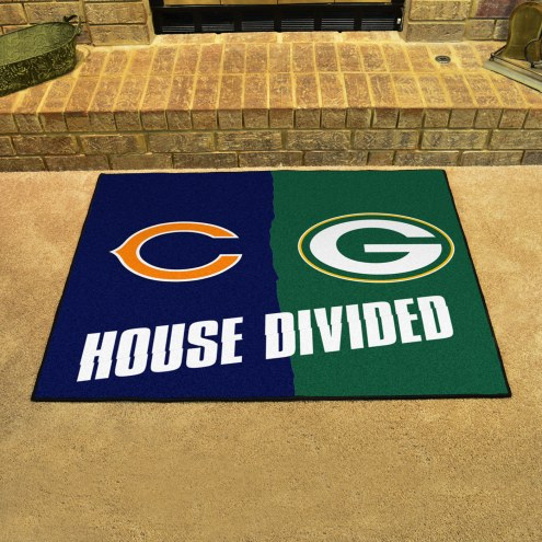 Chicago Bears/Green Bay Packers House Divided Mat