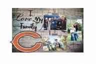Chicago Bears I Love My Family Clip Frame
