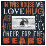 """Chicago Bears In This House 10"""" x 10"""" Picture Frame"""