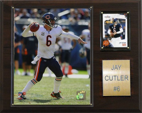 """Chicago Bears Jay Cutler 12 x 15"""" Player Plaque"""