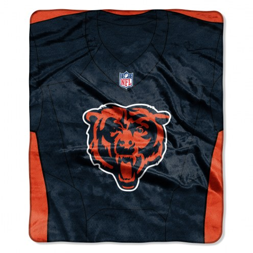 Chicago Bears Jersey Raschel Throw Blanket