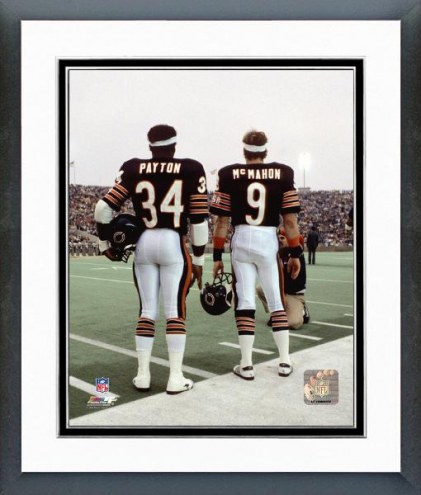 Chicago Bears Jim McMahon & Walter Payton 1984 Framed Photo