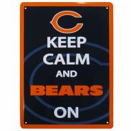 Chicago Bears Keep Calm Sign