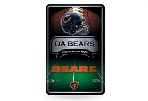 Chicago Bears Large Embossed Metal Wall Sign