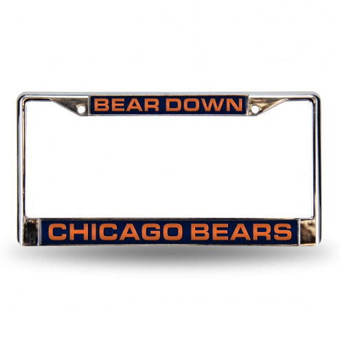 Chicago Bears Laser Chrome License Plate Frame