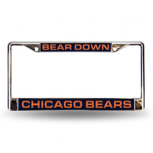 Chicago Bears Laser Chrome License Plate Frame