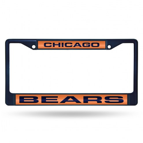 Chicago Bears Laser Colored Chrome License Plate Frame