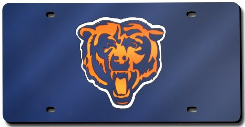 Chicago Bears Laser Cut Navy License Plate