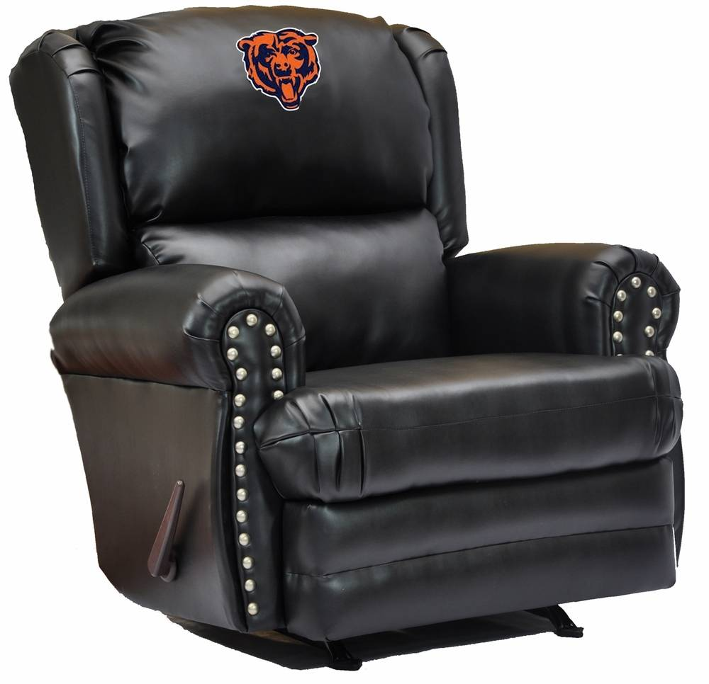 Swell Chicago Bears Leather Coach Recliner Ocoug Best Dining Table And Chair Ideas Images Ocougorg