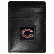 Chicago Bears Leather Money Clip/Cardholder in Gift Box