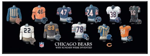 Chicago Bears Legacy Uniform Plaque