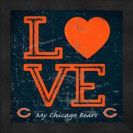 Chicago Bears Love My Team Color Wall Decor
