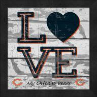 Chicago Bears Love My Team Square Wall Decor