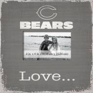 Chicago Bears Love Picture Frame